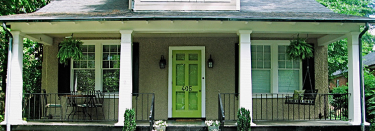 Green Entry Door