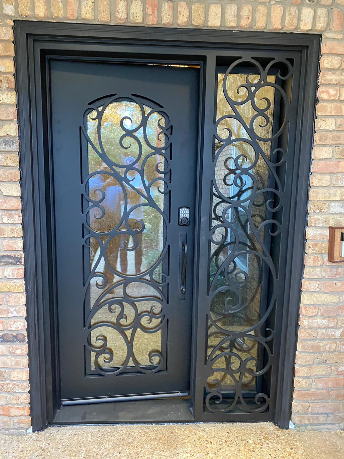 Clear Ridge in Dallas iron door after exterior view