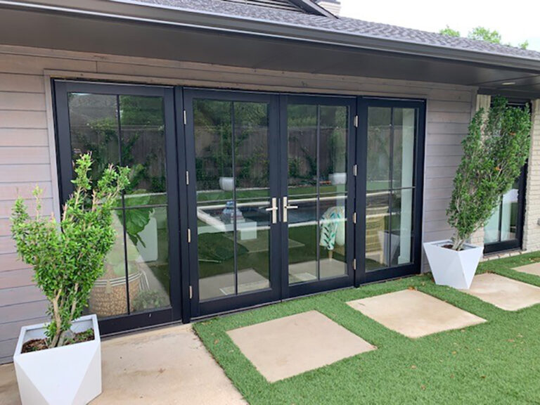 Varner Patio Doors After Exterior View Contemporary French 768x576