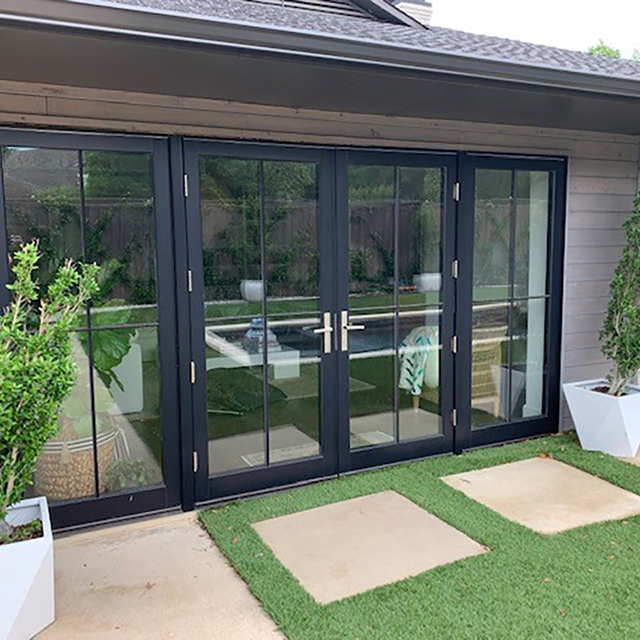 Varner Patio Doors After Exterior View Contemporary French front