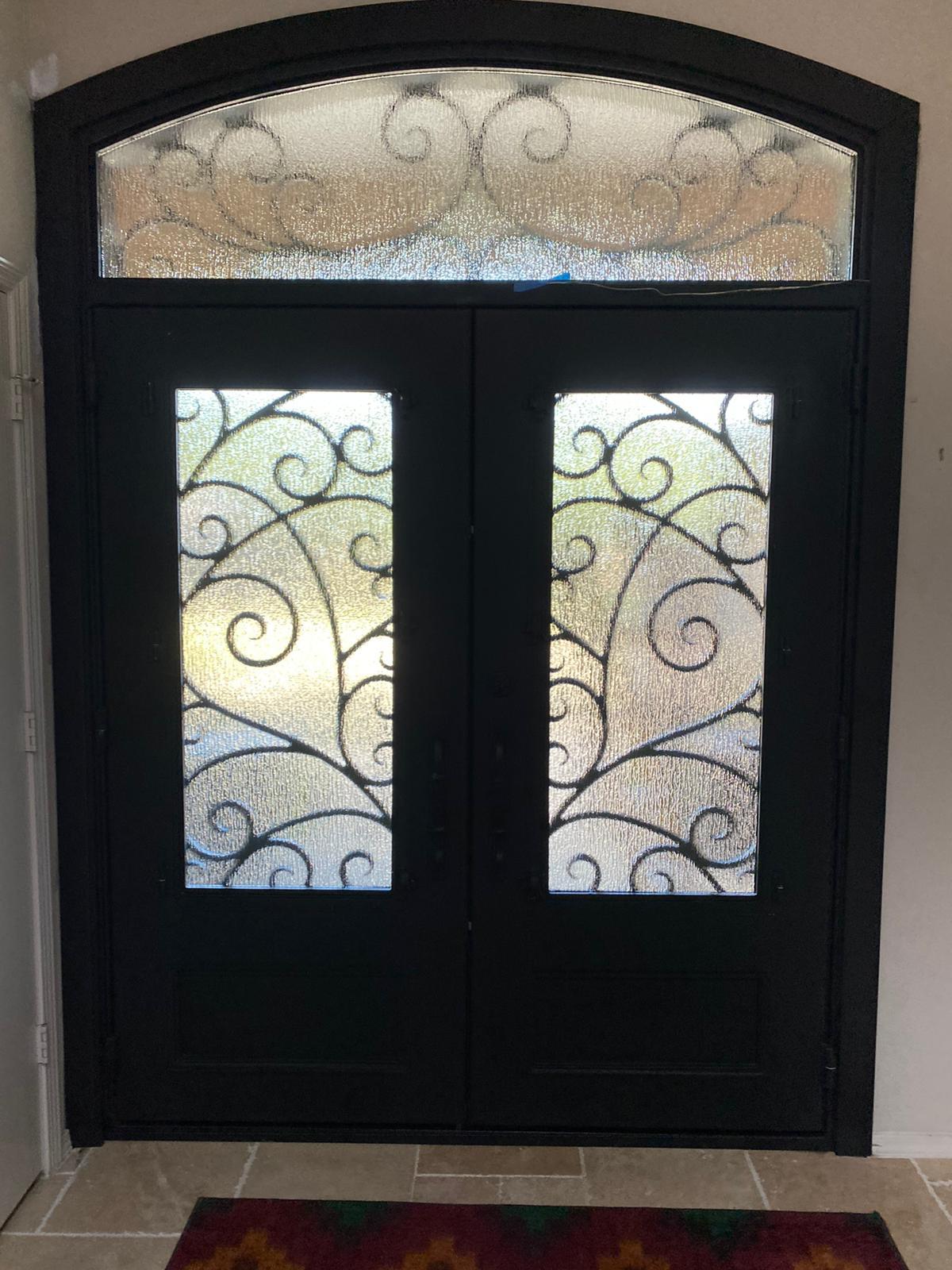 dallas entry door upgrade to iron door after interior view