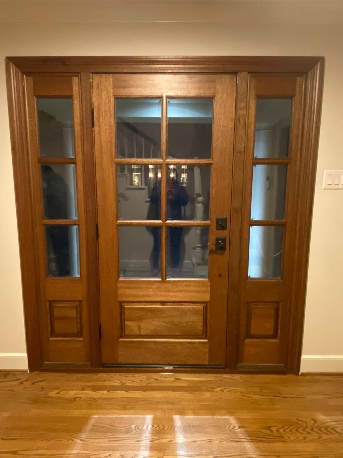 richardson tx entry door after interior view